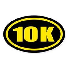 10 K Runner Oval Oval Decal