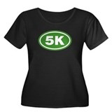 5 K Runner Oval Women's Plus Size Scoop Neck Dark