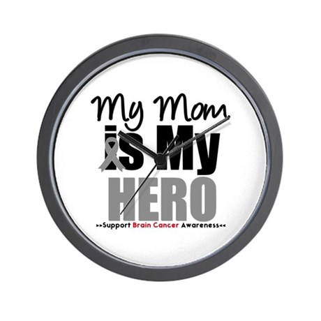 BrainCancerHero Mom Wall Clock