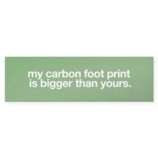 My Carbon footprint is bigger than yours