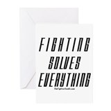 Fighting Solves Everything-w/ Greeting Cards (Pk o