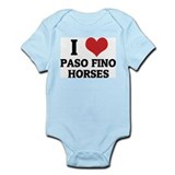 I Love Paso Fino Horses Infant Creeper