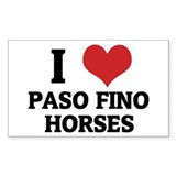 I Love Paso Fino Horses Rectangle Decal