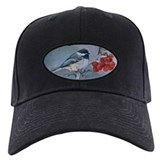 Bird-watcher's Black Top Chickadee Cap (black)