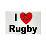 I Love Rugby Rectangle Magnet (10 pack)