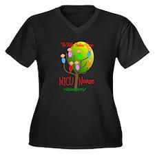 NICU Nurse Women's Plus Size V-Neck Dark T-Shirt