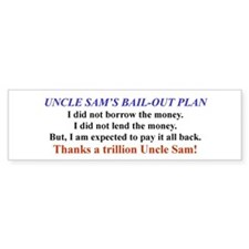 Uncle Sam's Bail-Out Bumpersticker