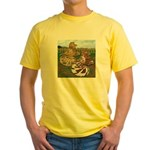 Two Trumpeter Pigeons Yellow T-Shirt