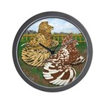 Two Trumpeter Pigeons Wall Clock