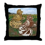 Two Trumpeter Pigeons Throw Pillow