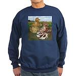 Two Trumpeter Pigeons Sweatshirt (dark)