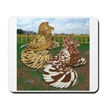 Two Trumpeter Pigeons Mousepad