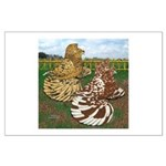 Two Trumpeter Pigeons Large Poster