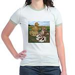 Two Trumpeter Pigeons Jr. Ringer T-Shirt