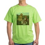 Two Trumpeter Pigeons Green T-Shirt