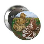 "Two Trumpeter Pigeons 2.25"" Button (10 pack)"