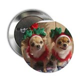 "Chihuahua Xmas 2.25"" Button (10 pack)"