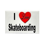 I Love Skateboarding Rectangle Magnet (10 pack)