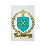 LEROUX Family Crest Rectangle Magnet (10 pack)