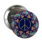 """Psychedelic Peace Sign 2.25"""" Button"""