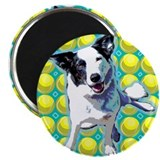 "Border Collie Pop Art 2.25"" Magnet (100 pack)"