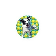Border Collie Pop Art Mini Button