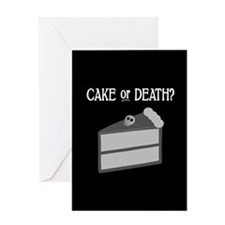 Cake or Death Greeting Card