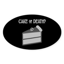 Cake or Death Oval Sticker (10 pk)