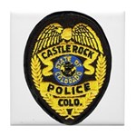 Castle Rock Police Tile Coaster