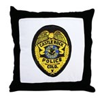 Castle Rock Police Throw Pillow