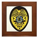 Castle Rock Police Framed Tile