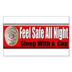 Feel Safe Rectangle Sticker 50 pk)