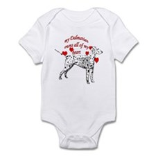 Dalmatian heart Infant Bodysuit