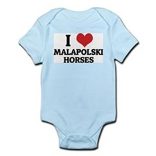 I Love Malapolski Horses Infant Creeper