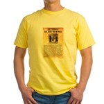 O K Corral Yellow T-Shirt
