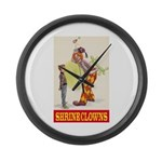Shrine Clowns Large Wall Clock