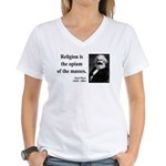 Karl Marx 1 Women's V-Neck T-Shirt