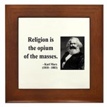 Karl Marx 1 Framed Tile