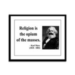 Karl Marx 1 Framed Panel Print
