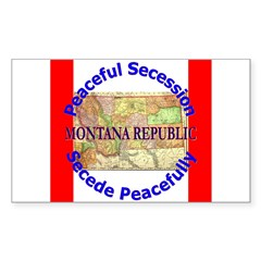 Montana-1 Rectangle Sticker