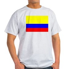 Colombia Flag Ash Grey T-Shirt