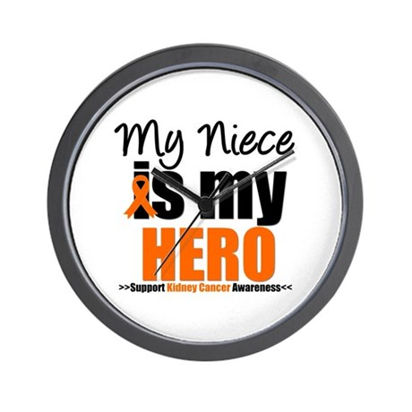 KidneyCancerHero Niece Wall Clock