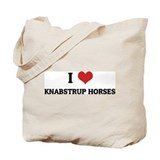 I Love Knabstrup Horses Tote Bag