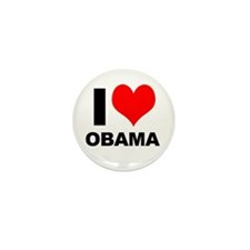 "I ""Heart"" (Love) Obama! Mini Button (10 pack)"