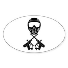 Paintball Oval Decal