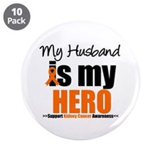 "KidneyCancerHero Husband 3.5"" Button (10 pack)"