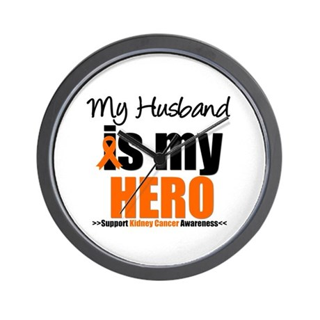 KidneyCancerHero Husband Wall Clock