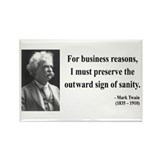 Mark Twain 26 Rectangle Magnet (100 pack)