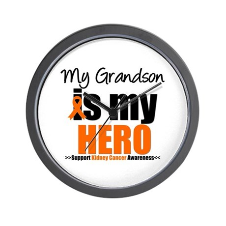 KidneyCancerHero Grandson Wall Clock