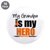 "KidneyCancerHero Grandpa 3.5"" Button (10 pack)"